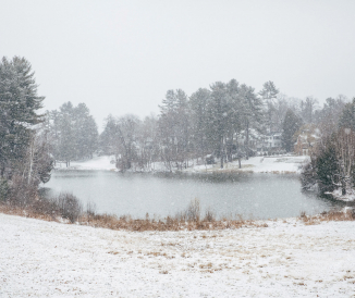 Occom Pond in winter