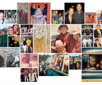 siblings collage
