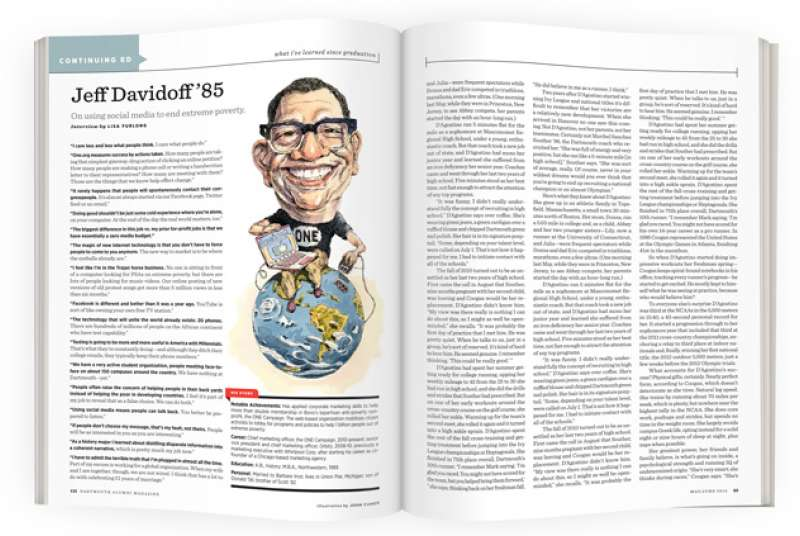 Jeff Davidoff '85 | Dartmouth Alumni Magazine