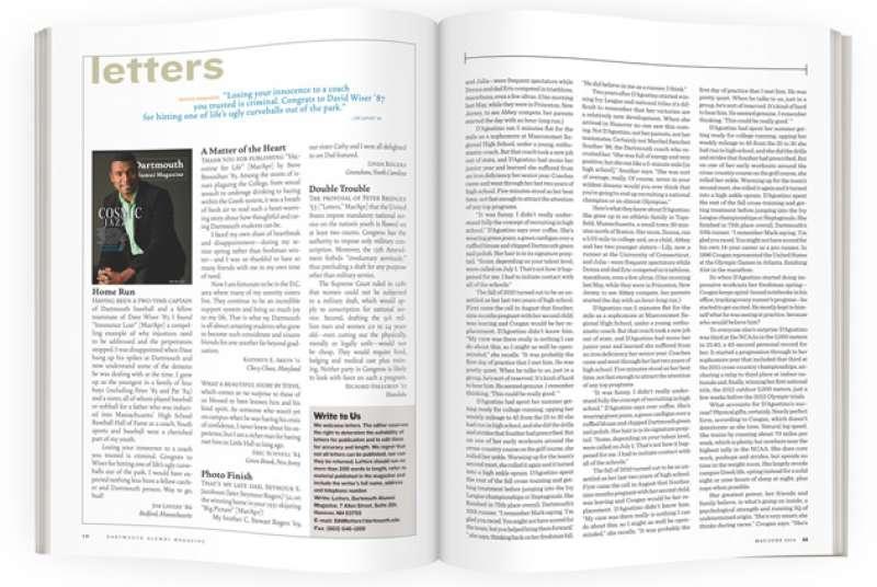 Letters | Dartmouth Alumni Magazine