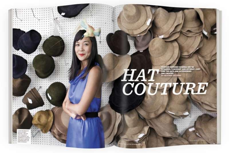 7d08ab6a3a1f1 Hat Couture. Fashion designer Eugenia Kim   ...