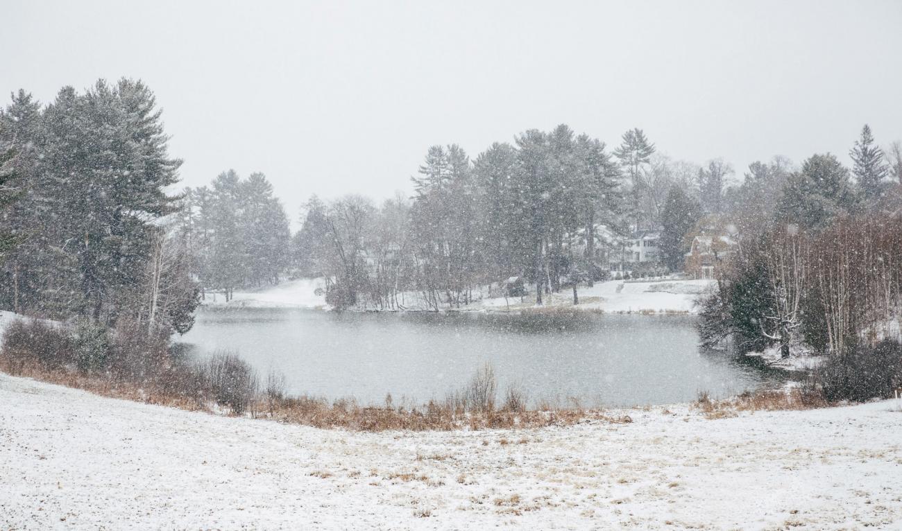 Occom Pond in winter