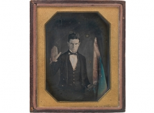Although no images of Augustus Washington are known to exist, this circa 1847 portrait of abolitionist John Brown is the best-known example of his work.
